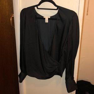Deep V H&M Silk Blouse